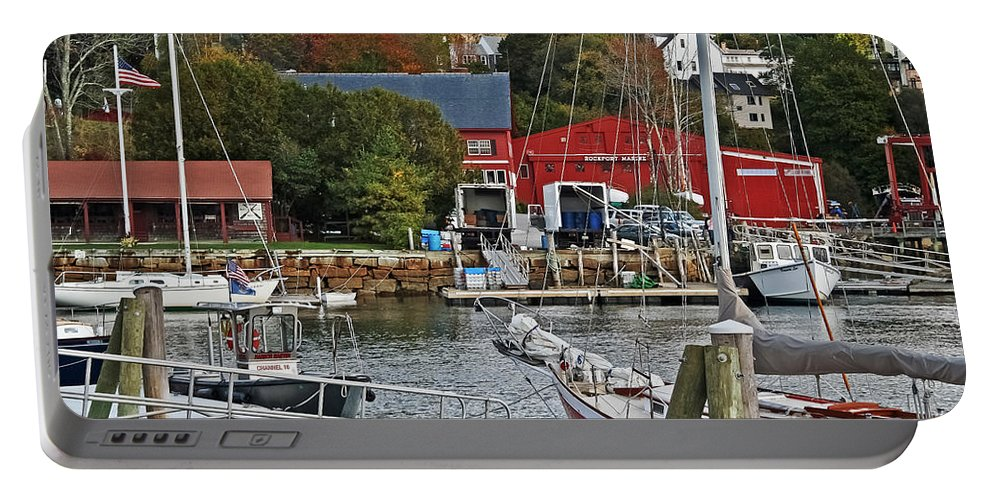 Travel Portable Battery Charger featuring the photograph Holiday At Rockport by Elvis Vaughn