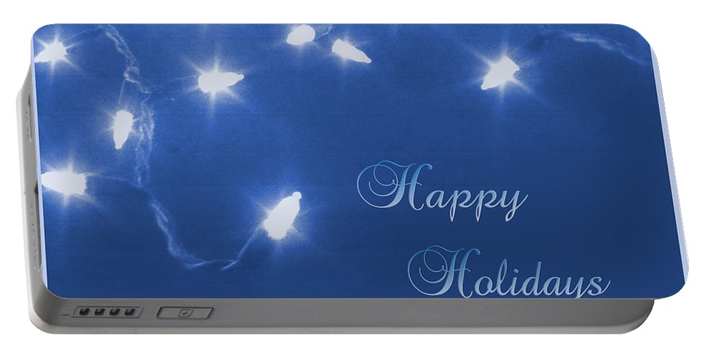 Blue Portable Battery Charger featuring the photograph Holiday Card I by Kristie Bonnewell