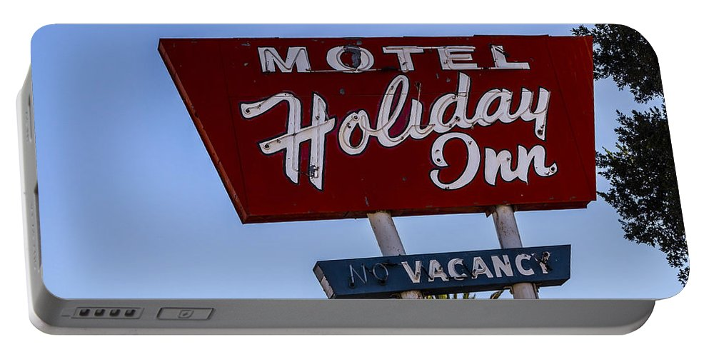 Route 66 Portable Battery Charger featuring the photograph Holiday Inn 3 by Angus Hooper Iii