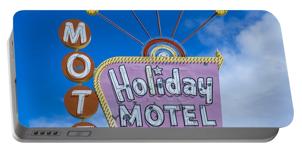 Vintage Portable Battery Charger featuring the photograph Holiday Motel by Nina Prommer
