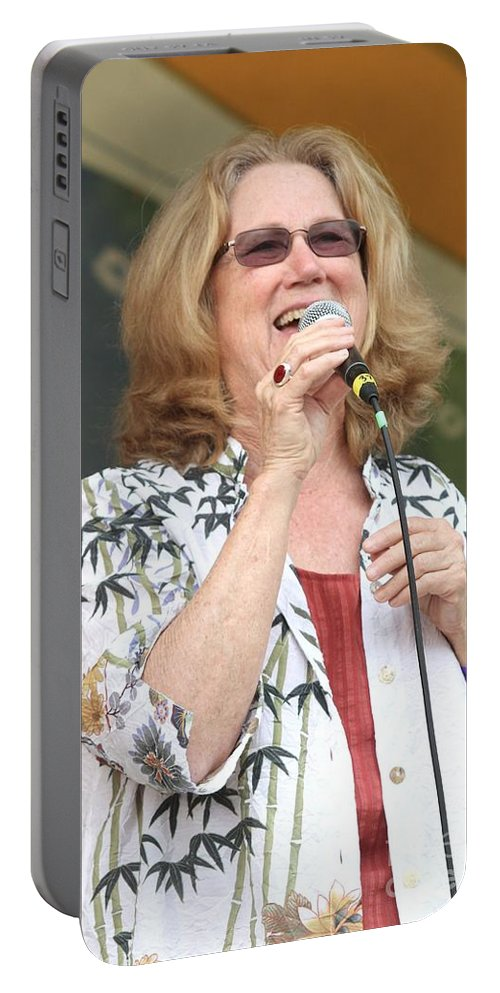 Singer Portable Battery Charger featuring the photograph Holly Near by Concert Photos