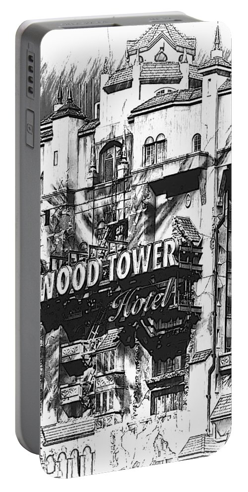 Disneyworld Portable Battery Charger featuring the photograph Hollywood Tower by Joyce Baldassarre