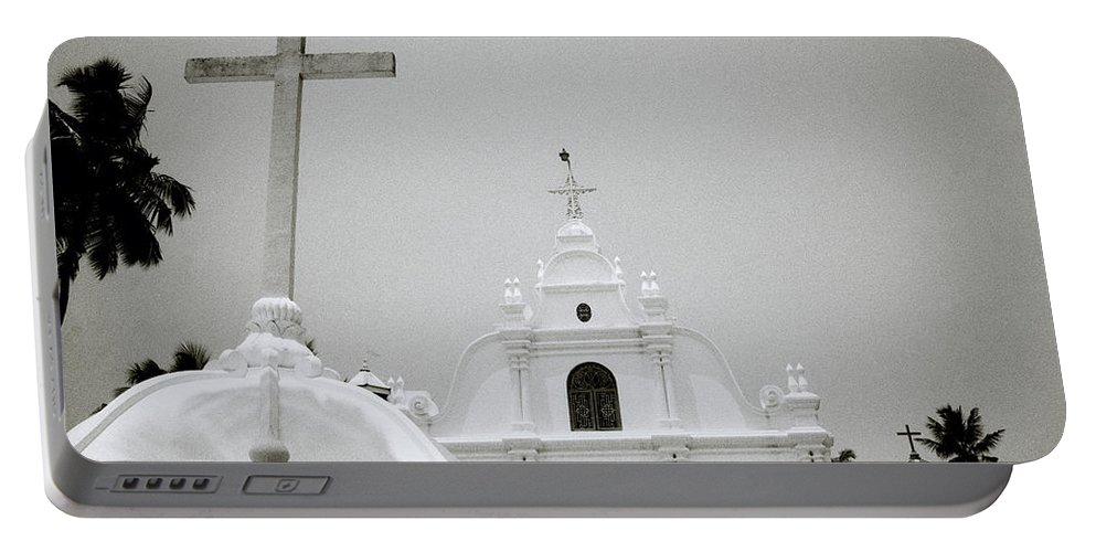 India Portable Battery Charger featuring the photograph Holy Cross Chapel In Cochin by Shaun Higson