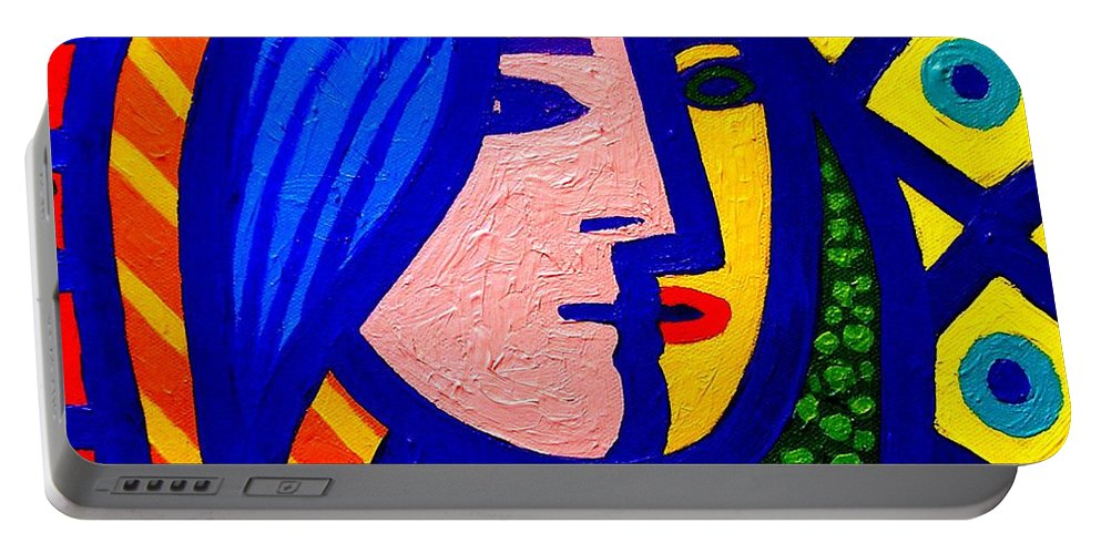 Vincent Van Gogh Portable Battery Charger featuring the painting Homage To Pablo Picasso by John Nolan
