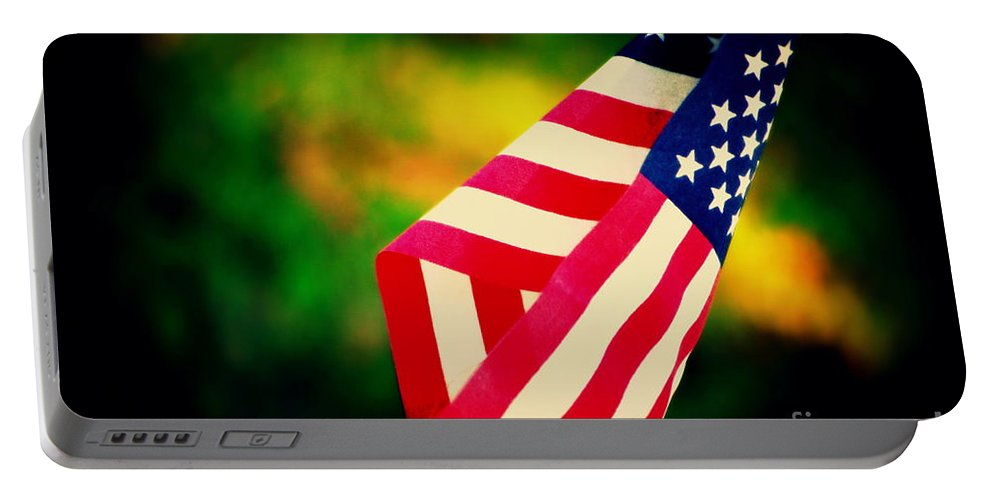 Flag Portable Battery Charger featuring the photograph Home-land by Susanne Van Hulst