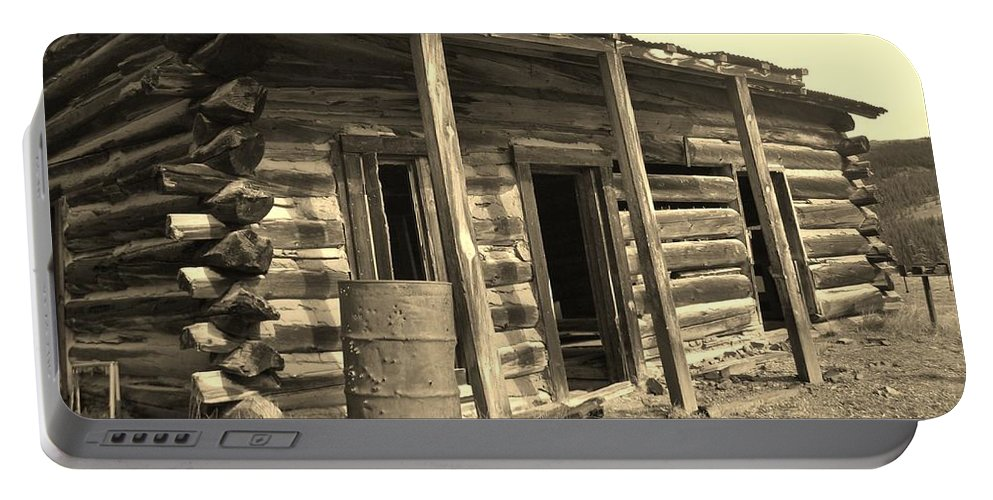Cabins Portable Battery Charger featuring the photograph Home Sweet Home by Tonya Hance