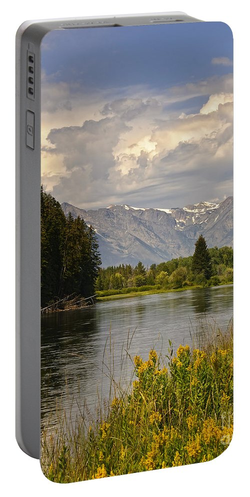Vista Portable Battery Charger featuring the photograph Homeground Waters Landscape by Timothy Flanigan