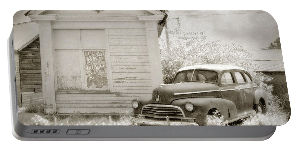 Cars Portable Battery Charger featuring the photograph Homeless by John Anderson