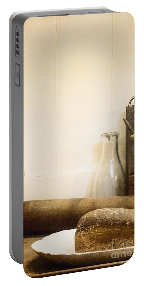 Food Portable Battery Charger featuring the photograph Homemade Bread by Margie Hurwich