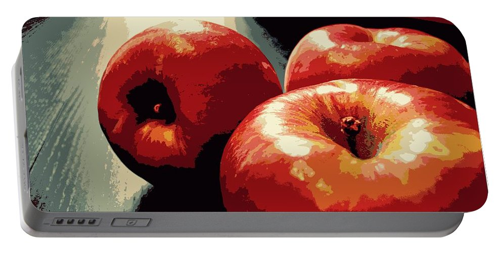 Honey Crisp Apples Portable Battery Charger featuring the photograph Honey Crisp Apples by Beth Ferris Sale