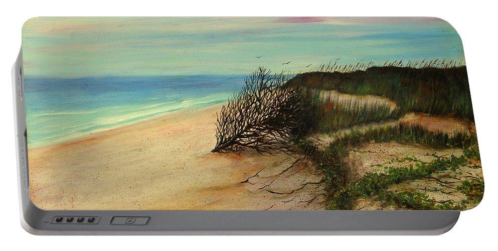 Honeymoon Island Paintings Portable Battery Charger featuring the painting Honeymoon Island Florida by Gabriela Valencia