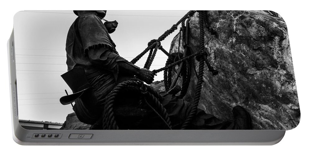 Nevada Portable Battery Charger featuring the photograph Hoover Dam Climber by Angus Hooper Iii