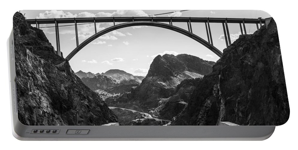 Nevada Portable Battery Charger featuring the photograph Hoover Dam Memorial Bridge by Angus Hooper Iii