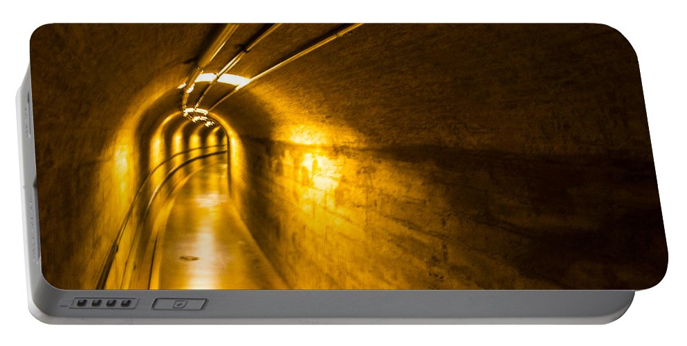 Nevada Portable Battery Charger featuring the photograph Hoover Dam Tunnel 2 by Angus Hooper Iii