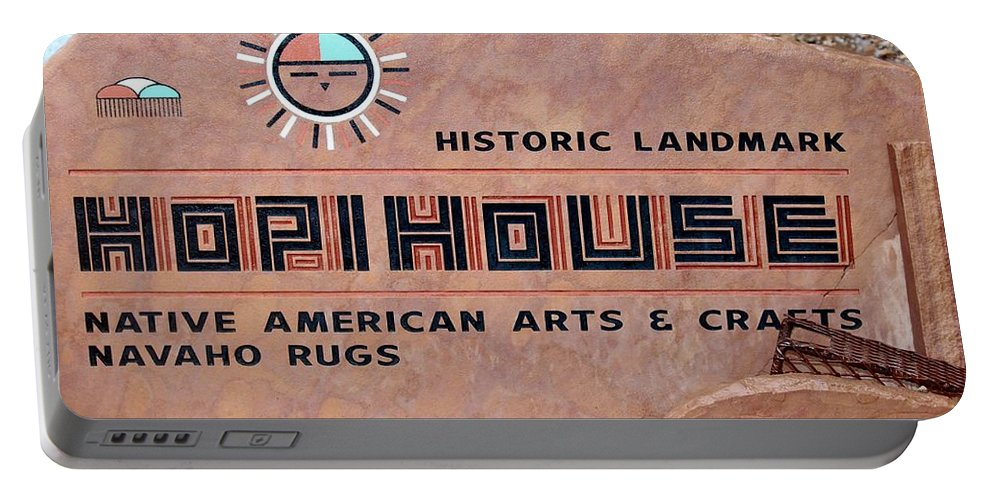 Sign Portable Battery Charger featuring the photograph Hopihouse Sign by Cynthia Guinn