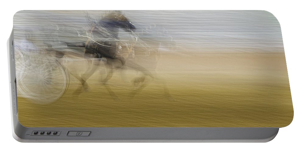 Topsfield Fair Portable Battery Charger featuring the photograph Horse And Sulkie by David Stone