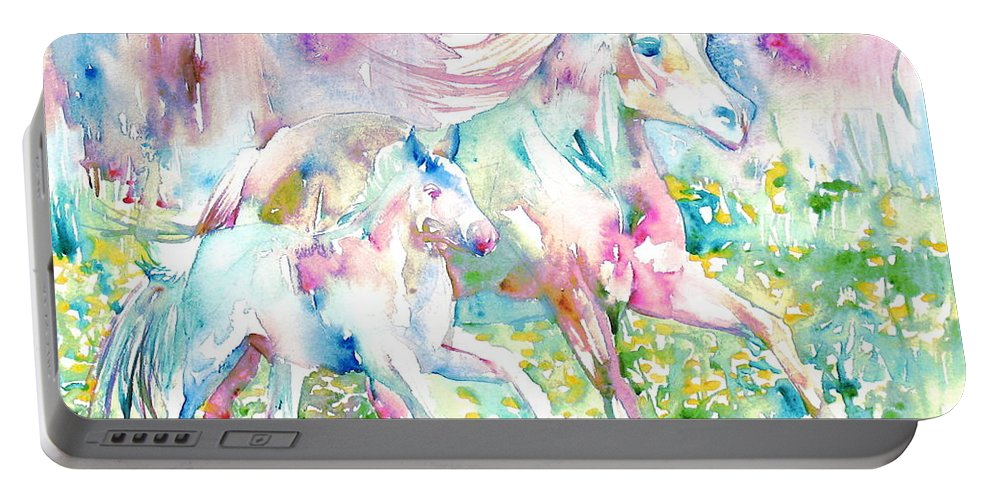 Horse Portable Battery Charger featuring the painting Horse Painting.17 by Fabrizio Cassetta