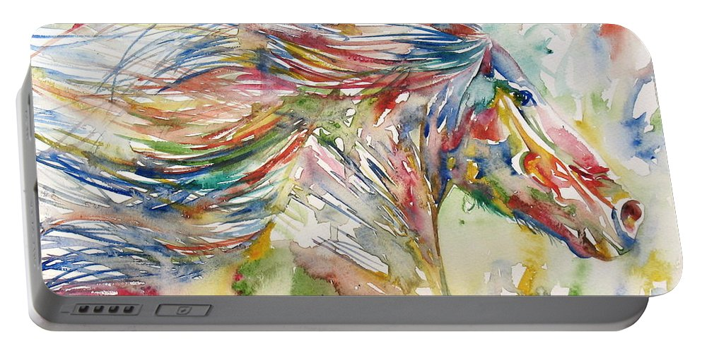 Horse Portable Battery Charger featuring the painting Horse Painting.24 by Fabrizio Cassetta