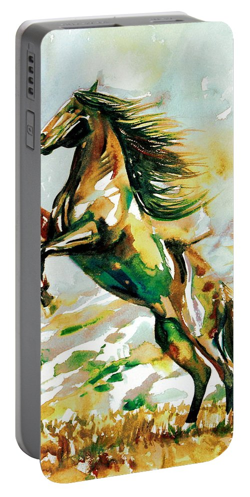 Horse Portable Battery Charger featuring the painting Horse Painting.25 by Fabrizio Cassetta