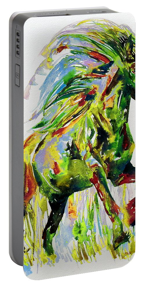 Horse Portable Battery Charger featuring the painting Horse Painting.26 by Fabrizio Cassetta