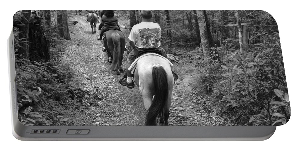 Horse Portable Battery Charger featuring the photograph Horse Trail by Frozen in Time Fine Art Photography