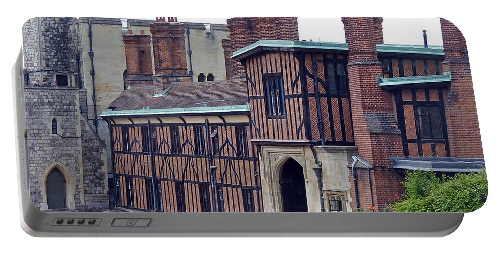 Horseshoe Cloisters Portable Battery Charger featuring the photograph Horseshoe Cloisters Windsor by Tony Murtagh