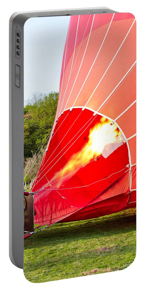 Basket Portable Battery Charger featuring the photograph Hot Air Balloon by Tom Gowanlock