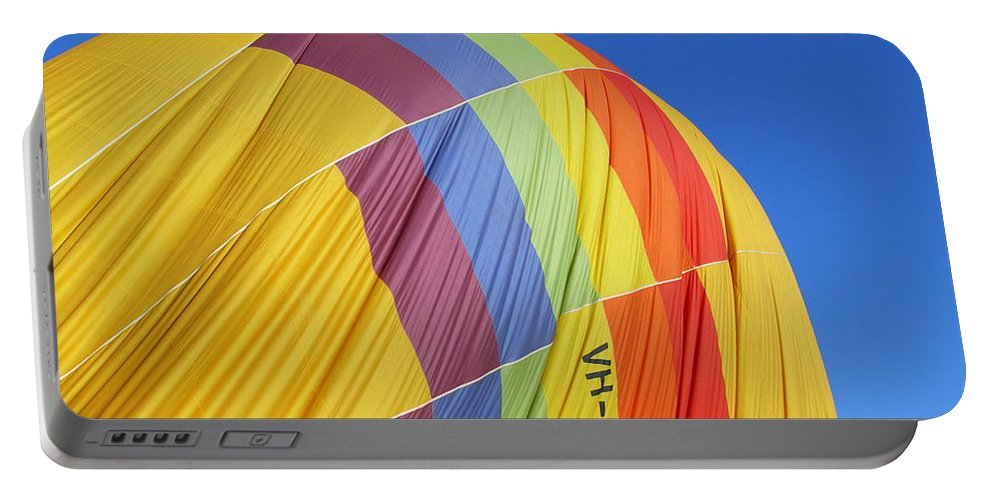 Hot-air Balloon Portable Battery Charger featuring the photograph Hot Air Ballooning 2am-110966 by Andrew McInnes