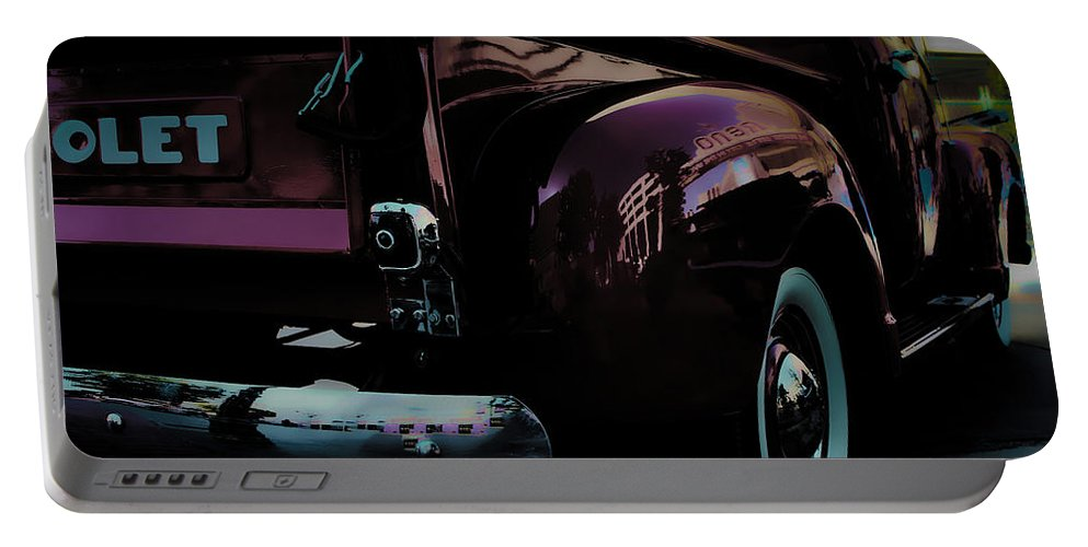 American Classic Cars Portable Battery Charger featuring the photograph Hot August Nights by Digital Kulprits