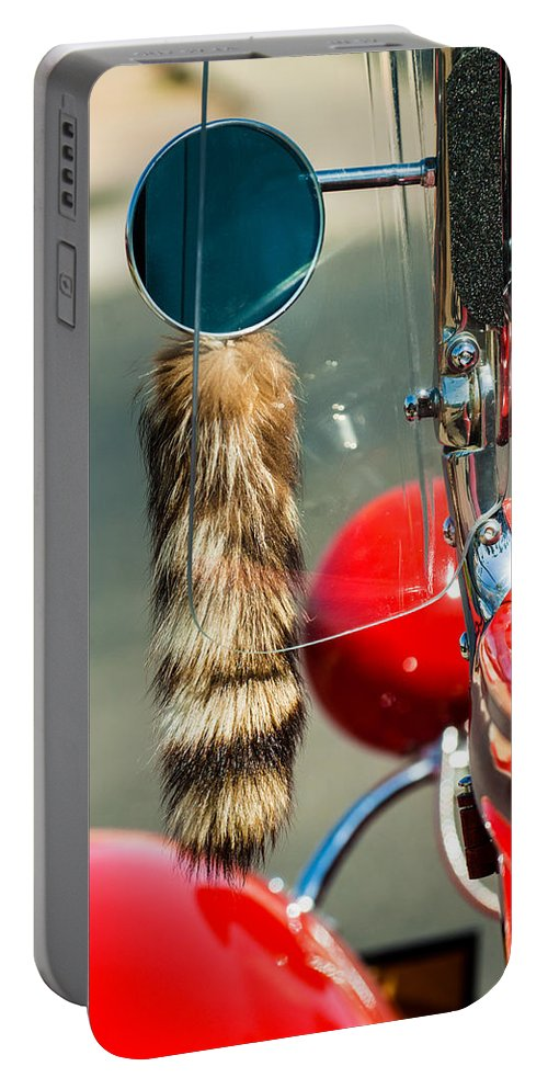 Hot Rod Portable Battery Charger featuring the photograph Hot Rod Coon's Tail by Jill Reger