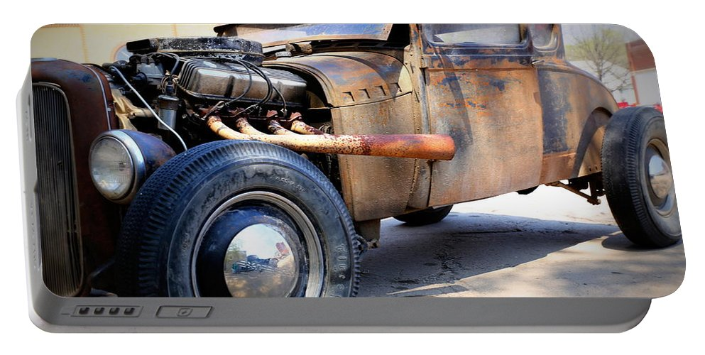 Hot Rod Portable Battery Charger featuring the photograph Hot Rod by Lynn Sprowl