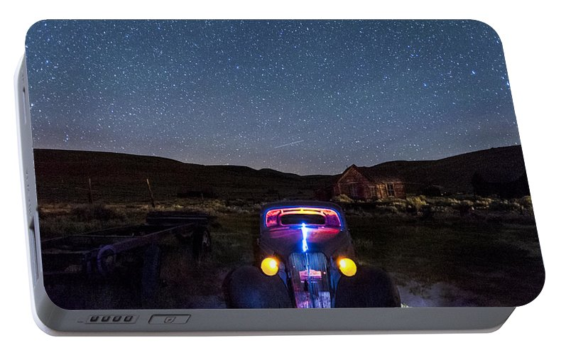 Bodie Portable Battery Charger featuring the photograph Hot Rod Nights by Cat Connor