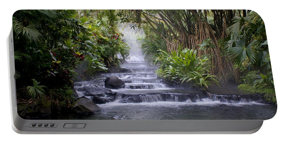 Costa Rica Portable Battery Charger featuring the photograph Hot Springs by Brian Kamprath