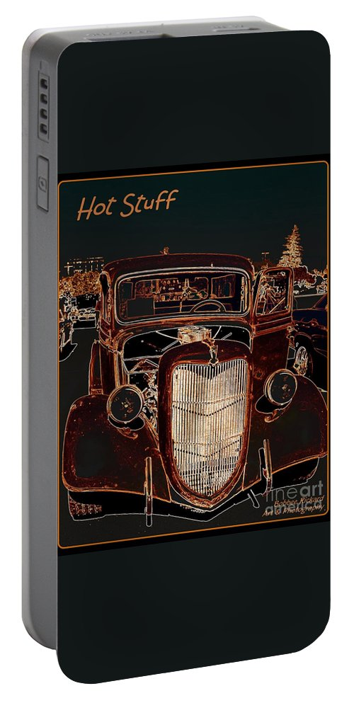 Rustic Portable Battery Charger featuring the photograph Hot Stuff Pick Up by Bobbee Rickard