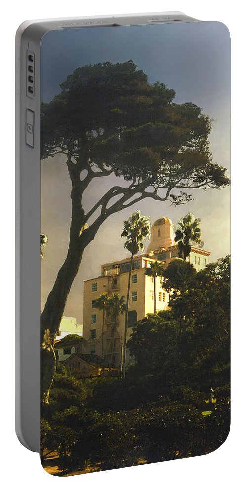 Landscape Portable Battery Charger featuring the photograph Hotel California- La Jolla by Steve Karol