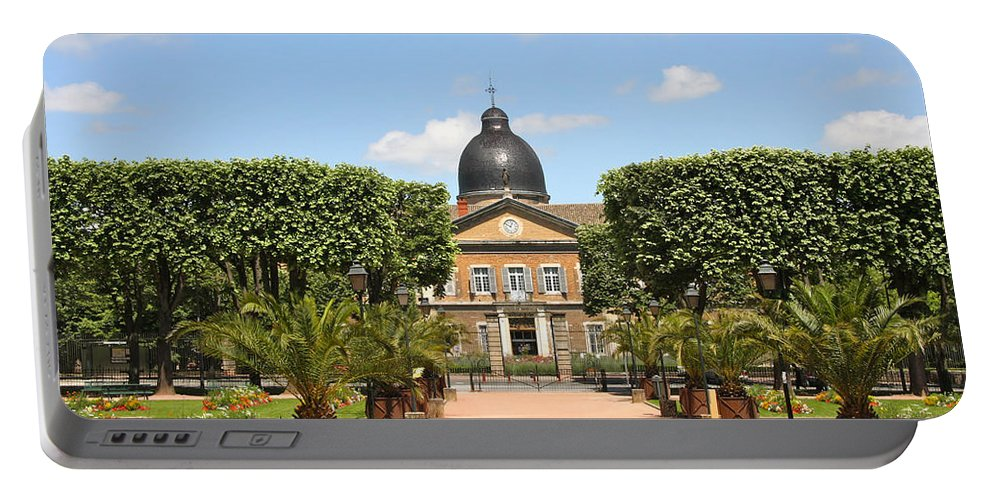 Hospital Portable Battery Charger featuring the photograph Hotel Dieu - Macon by Christiane Schulze Art And Photography