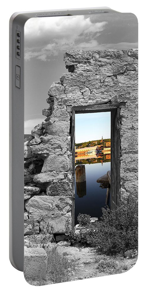 Montages Portable Battery Charger featuring the photograph Houghton Through The Magic Door by Greg Wells