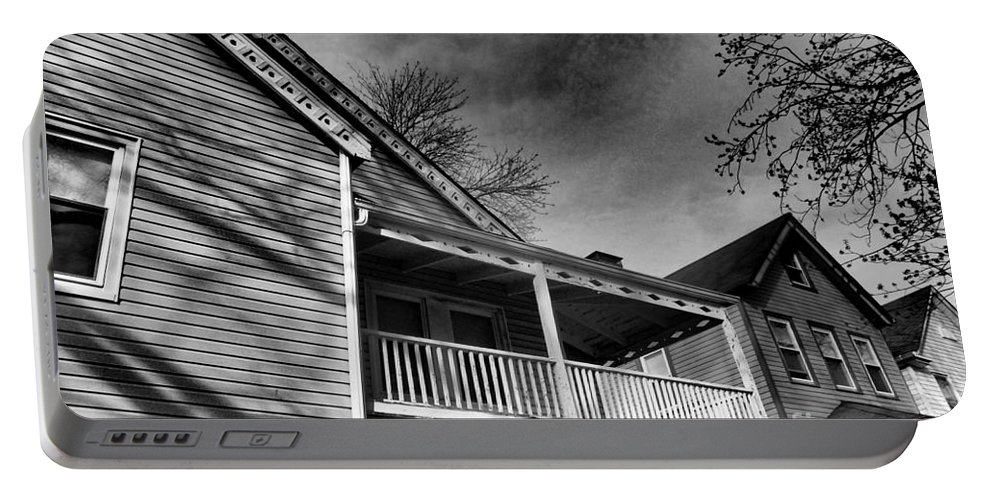 Porch Portable Battery Charger featuring the photograph Old House 4 by Miriam Danar
