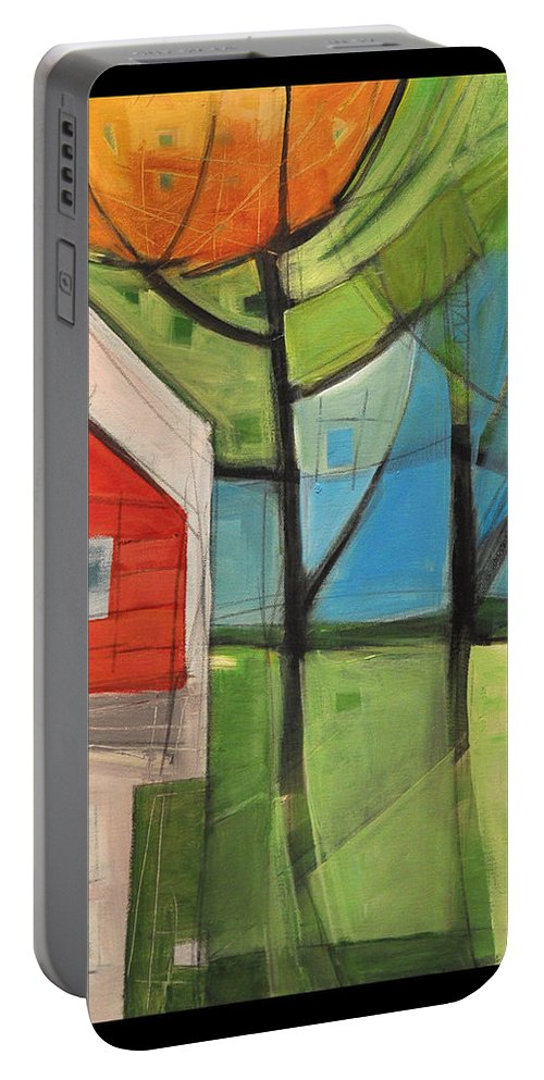 House Portable Battery Charger featuring the painting House In The Trees by Tim Nyberg
