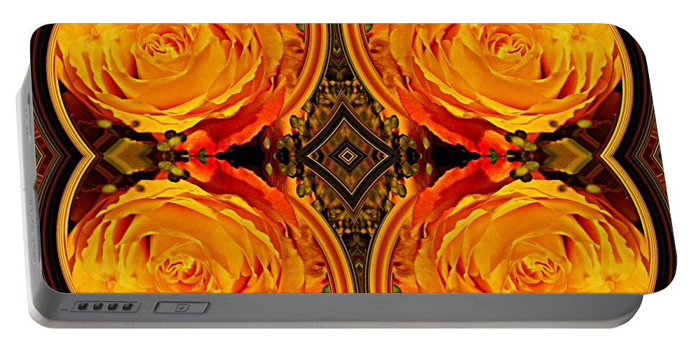 Rose Portable Battery Charger featuring the digital art House Of Roses by Sarah Loft