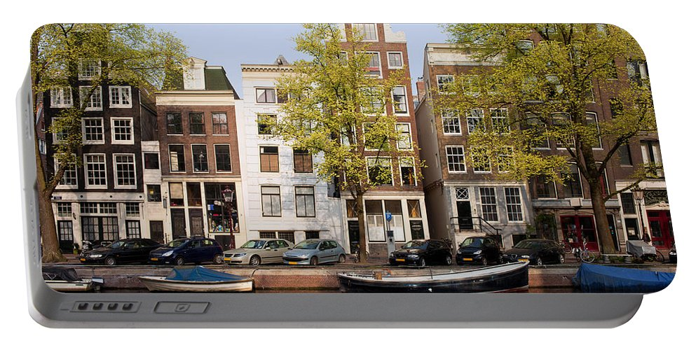 Amsterdam Portable Battery Charger featuring the photograph Houses In Amsterdam by Artur Bogacki
