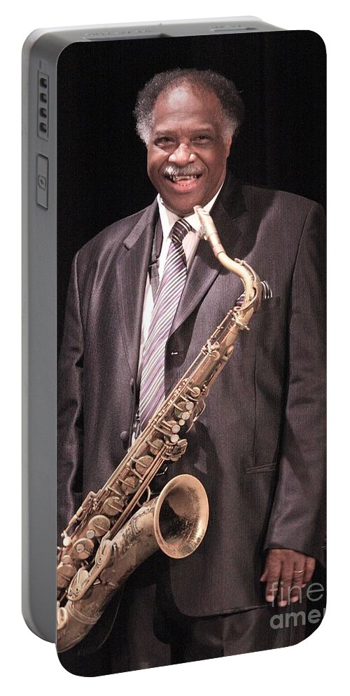 Jazz Portable Battery Charger featuring the photograph Houston Person by Concert Photos