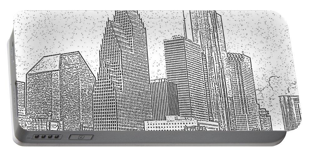 Skyscape Portable Battery Charger featuring the photograph Houston Skyline Abstract by Jeanne A Martin