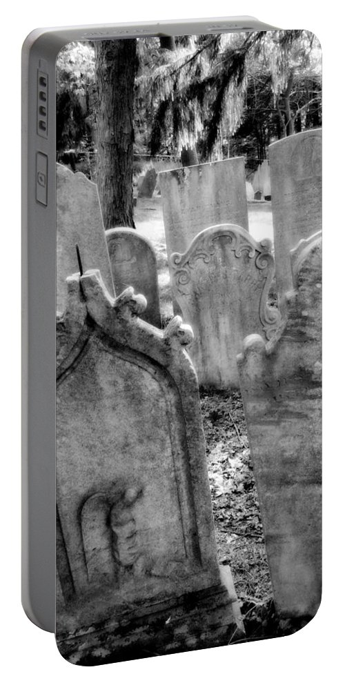 Graveyard Portable Battery Charger featuring the photograph Howard Ave by Michele Nelson