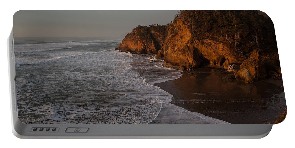 Hug Point Portable Battery Charger featuring the photograph Hug Point Falls by Mike Reid