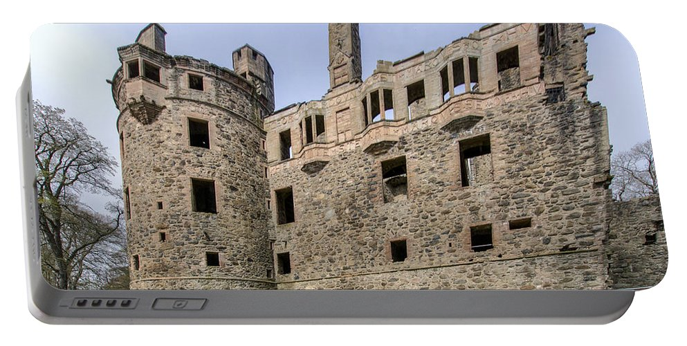 Huntly Portable Battery Charger featuring the photograph Huntly Castle - 3 by Paul Cannon