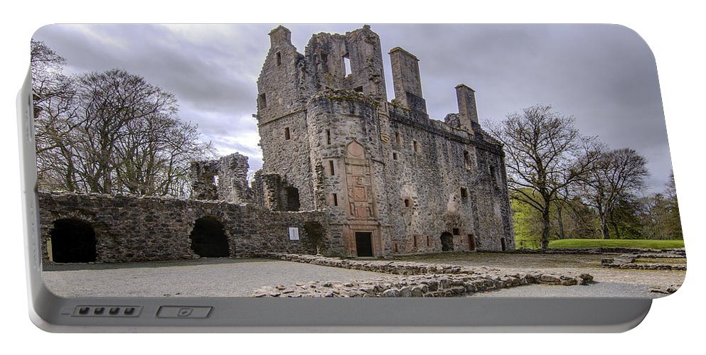 Huntly Portable Battery Charger featuring the photograph Huntly Castle - 5 by Paul Cannon