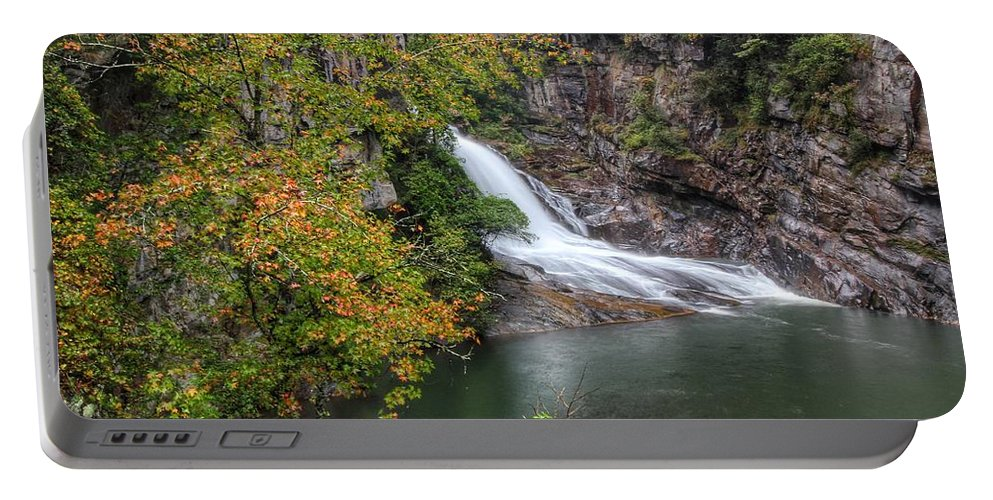 Hurricane Falls Portable Battery Charger featuring the photograph Hurricane Falls by Chris Berrier