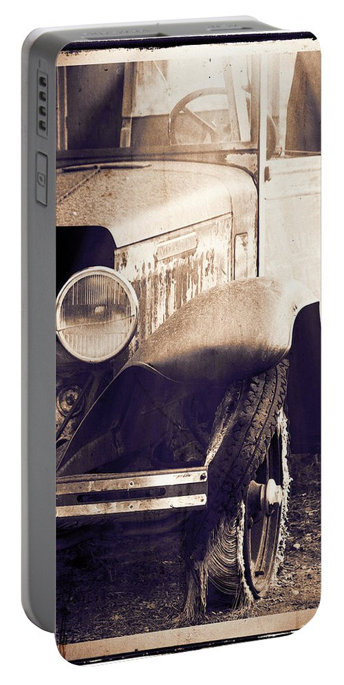 Truck Portable Battery Charger featuring the photograph Hurry Sundown by Terry Fiala