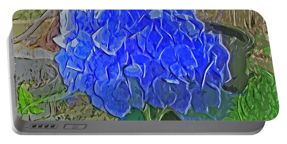 Hydrangea Blues Portable Battery Charger featuring the photograph Hydrangea Blues by Luther Fine Art
